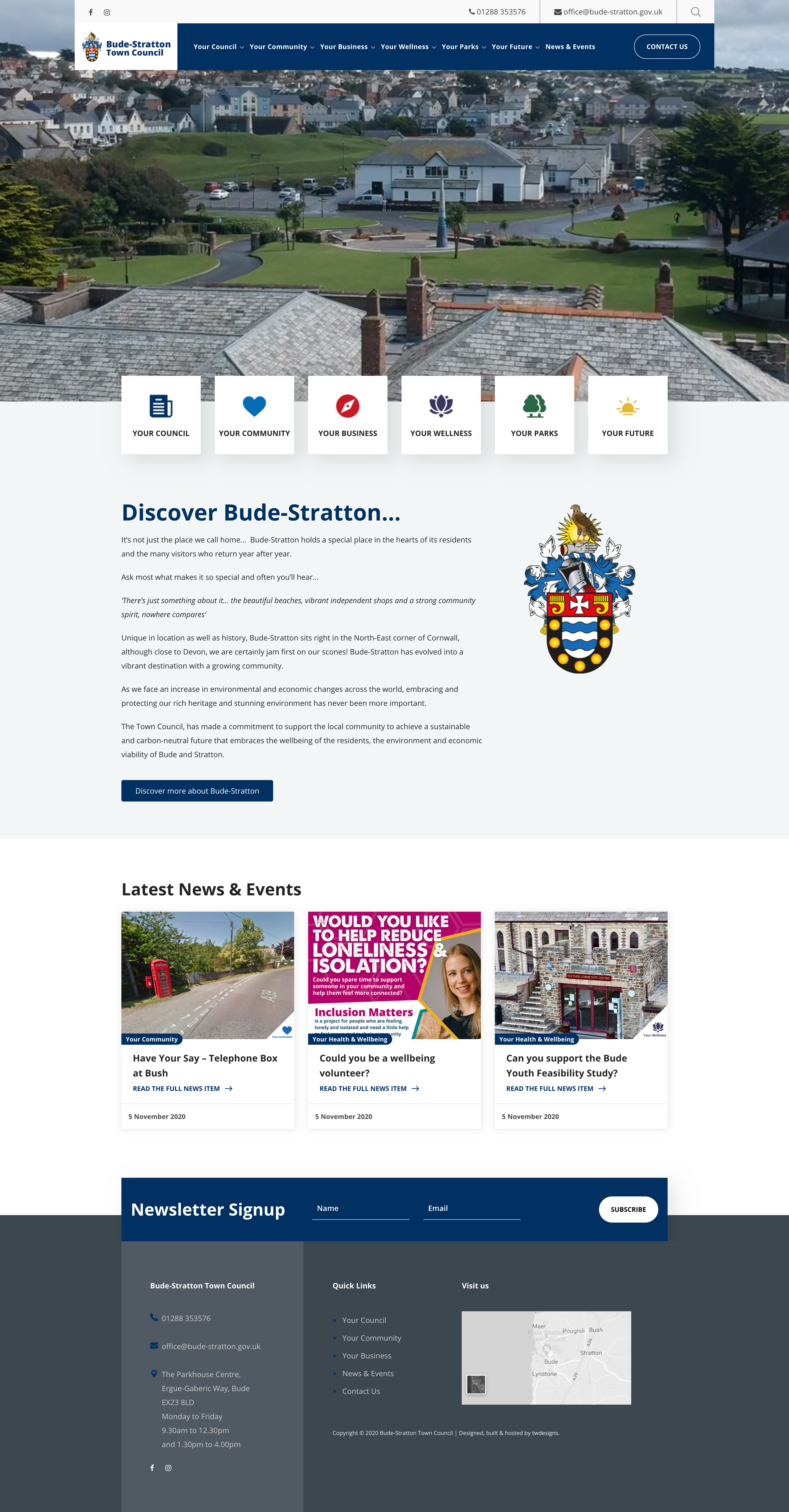 Bude-Stratton Website